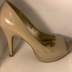 Rampage Gracee Nude Patent Leather Heels